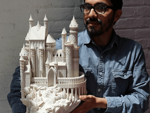 Medieval Castle printed in PLA filament