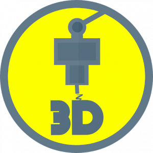 3d printing logo with yellow background