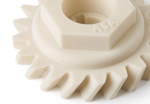 ASA 3D printed gear