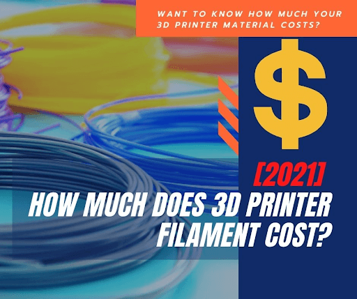 how much does 3d printer filament cost