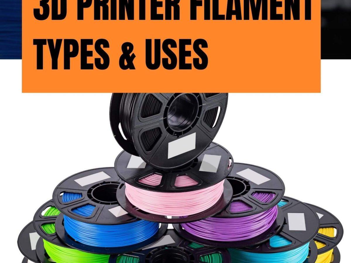 _3D Printer Filament Types & Uses