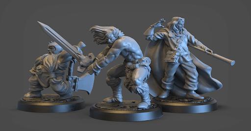 3d printed d&d figurines