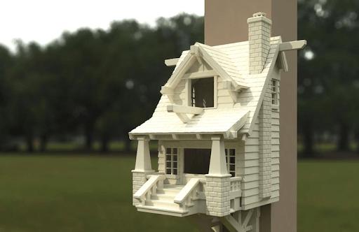 American Birdhouse 3D Print
