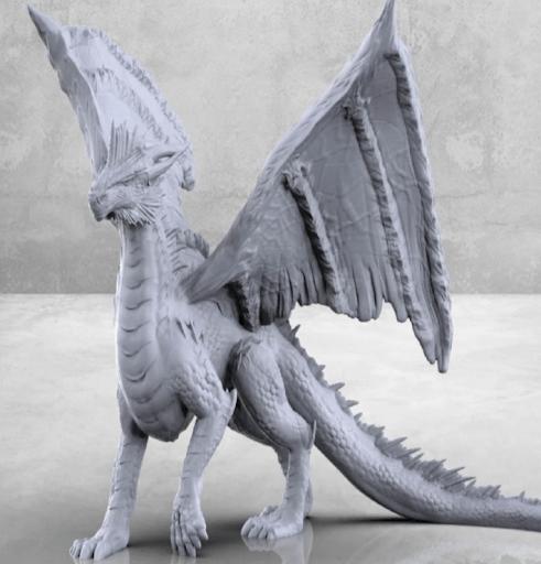 Silver Dragon - Tabletop Miniature