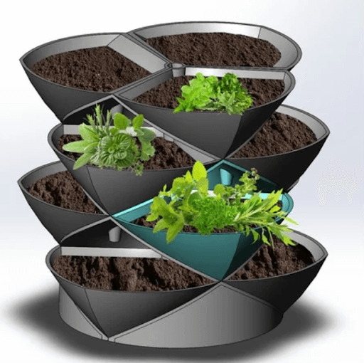 Stacking Planter Pods 3d printed