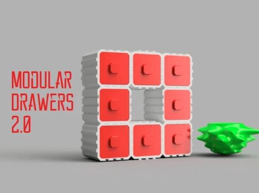 modular 3d printed drawer
