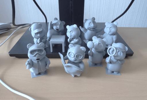 pla filament 3d printed