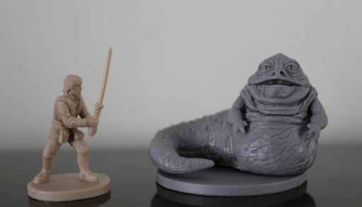 pla plus filament or pla premium for fdm printing figurines and detailed minitaures